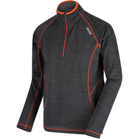 Regatta Yonder Jersey manga larga Hombre, seal grey/burnt salomon